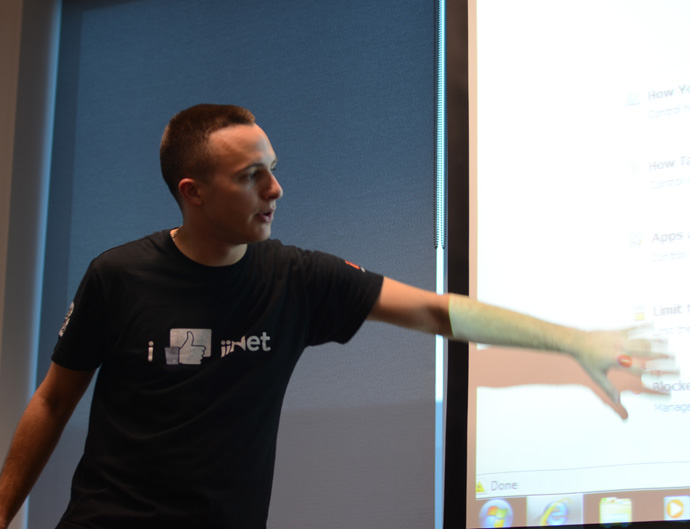 IiNet staff member Adam OGrady at a recent Learn with