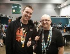 At PAX with Founder, Jerry Holkins (right)